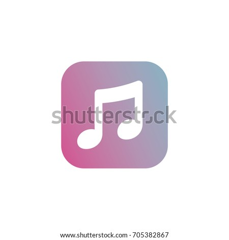 Music Player App Icon Simple Vector Stock Vector (Royalty Free