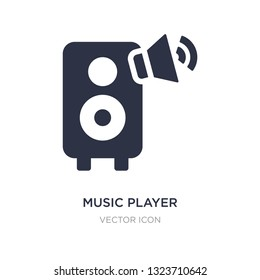 music player big speaker icon on white background. Simple element illustration from Technology concept. music player big speaker sign icon symbol design.