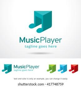Music Player Logo Template Design Vector