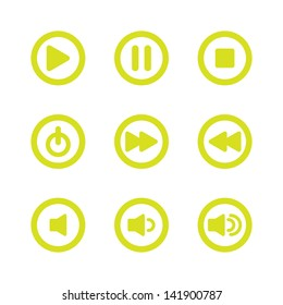 Music Player Navigation Icons