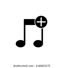 music plus icon. Element of simple icon. Premium quality graphic design icon. Signs and symbols collection icon for websites, web design, mobile app