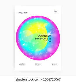 Music poster. Fluid holographic gradient shape and line. Electronic sound. Night lifestyle dance holiday. Commercial banner layout for disco club. Music poster and flyer for summer fest.
