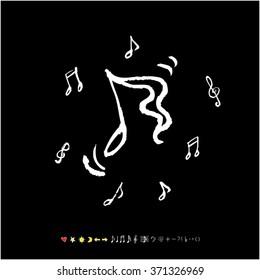 Music poster illustration / Hand drawn illustration - vector