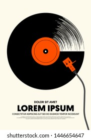 Le Gramophone Paris France Vintage Poster Print Retro Style Music Phonograph Ad