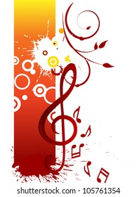 Music poster - vector