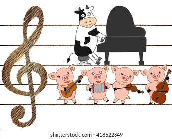 The music presentation of domestic animals.