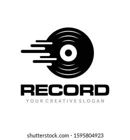 Music Record, Music Studio Record, Music Logo Vector