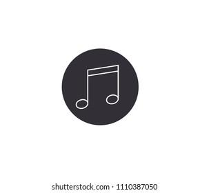 Music or ringtone flat icon