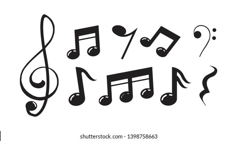music scale logo design. music note sign or symbol. musical scale icon. illustration element vector