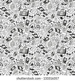 music - seamless pattern