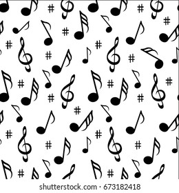 Music seamless pattern background vector illustration for your design.