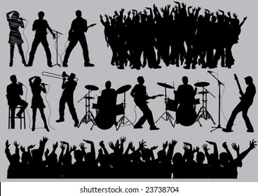 Music set #34. Visit our gallery for more music vectors.