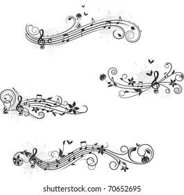 Music set of design elements