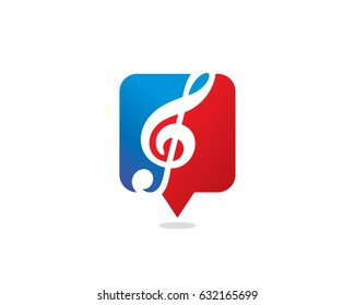 Music Shop Logo Template Design Vector, Emblem, Design Concept, Creative Symbol, Icon