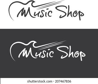 music shop vector design template