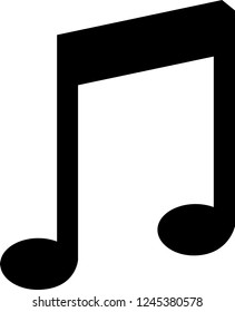 Music single bar note symbol vector illustration in black and white