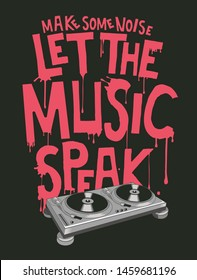 Music slogan and poster vector design