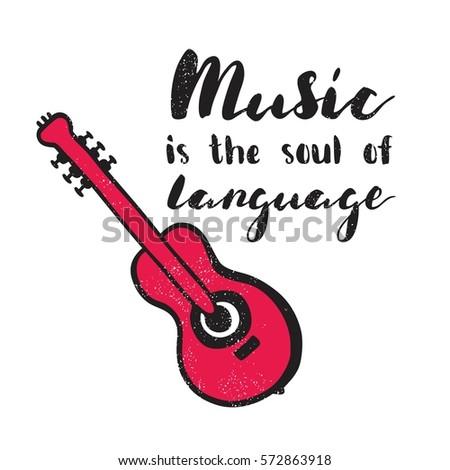 Music Soul Language Modern Stylish Hand Stock Vector Royalty Free