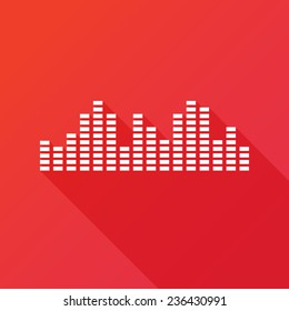 Music sound wave | Music bars icon. Vector illustration. Flat design style. Equalizer bar icon. Music mixer. Sound bar icon. Sound waves
