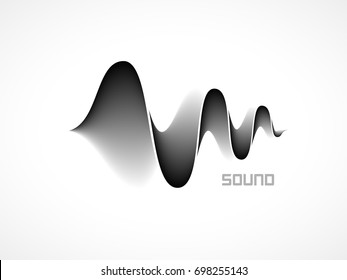 Music sound waves on white background. RGB Global color