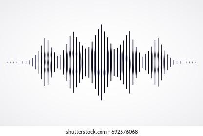 Music sound waves. RGB Global color