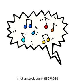 music speech bubble cartoon