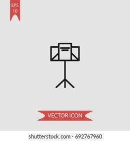 Music stand vector icon, illustration symbol