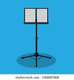 Music stand vector Illustration.