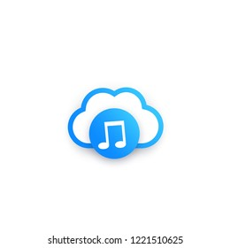 music streaming service vector icon