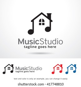 Music Studio Logo Template Design Vector
