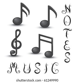 Music Note Letters Images, Stock Photos & Vectors | Shutterstock