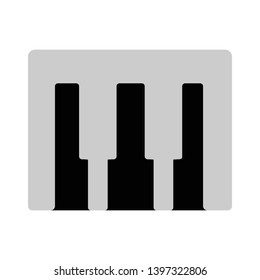 Music Synthesizer vector icon. filled flat sign for mobile concept and web design. Midi keyboard top view glyph icon. Musical instrument symbol, logo illustration. Pixel perfect vector graphics
