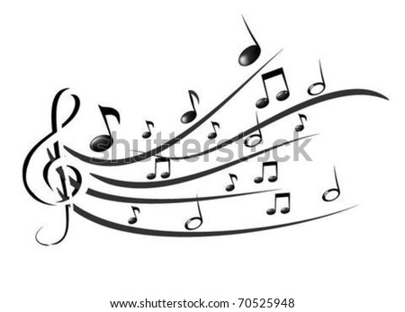 Music Theme Stock Vector Royalty Free 70525948