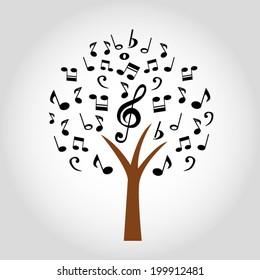 music tree - Vector illustration