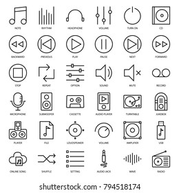 music user interface outline icon