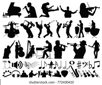 Music Vector Collection Black & White