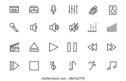 Music Vector Line Icons 1
