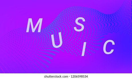Music Wave Design. Music Summer Abstract Background. Sound Flyer With Rainbow Gradient Line Waves. Music Banner Equalizer Vector Concept. Electronic Fest Rainbow Modern Poster.