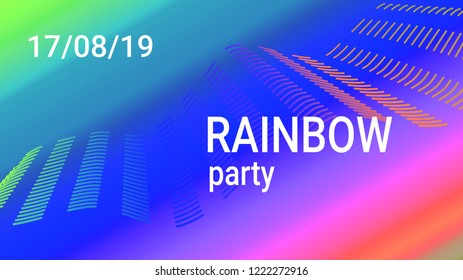 4666478817bf72 Music Wave Design. Music Summer Abstract Background. Sound Flyer With  Rainbow Gradient Line Waves
