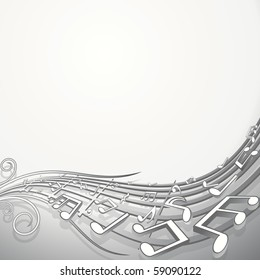 Music Waving Background, vector backdrop for your text or design
