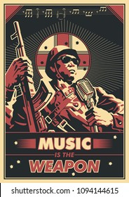 Music is the Weapon Propaganda Poster