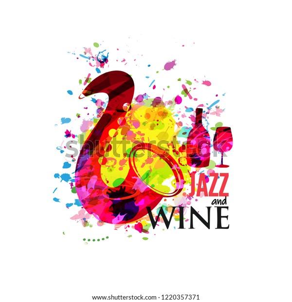 Vetor stock de Music Wine Colorful Background Flat Vector (livre de