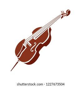 Musical abstract composition of violin, guitar and cello. Music symbol for concerts