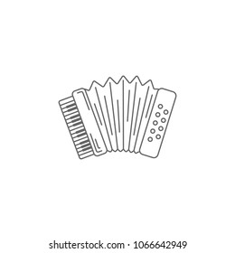 Musical accordion icon. Simple element illustration. Musical accordion symbol design template. Can be used for web and mobile on white background