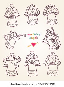 musical angels outline collection