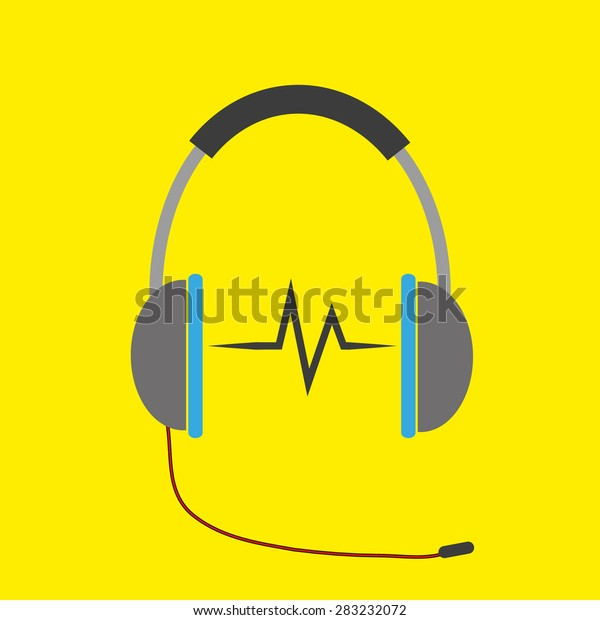 Musical Background Headphone Beats Can Be Stock Vector (Royalty Free