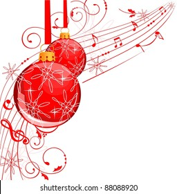 Musical Christmas balls banner