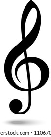 Musical Clef. Vector Ilustration