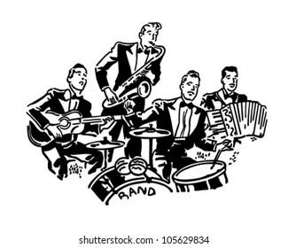 Musical Group - Retro Clipart Illustration