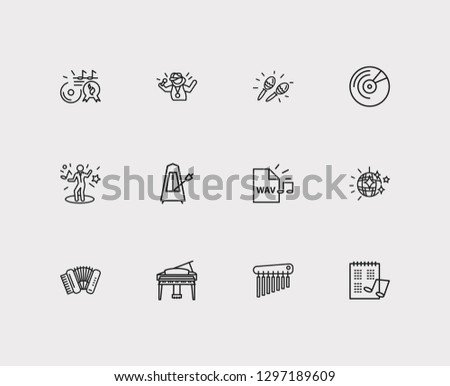Musical Icons Set Music Hit Musical Stock Vector (Royalty Free